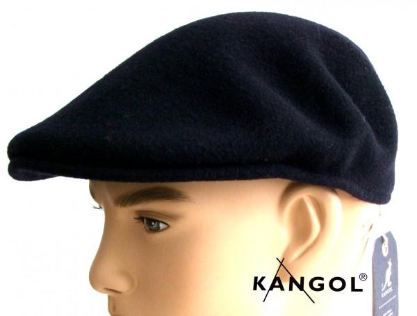 Kangol 504 Mütze Flatcap Schiebermütze schwarz