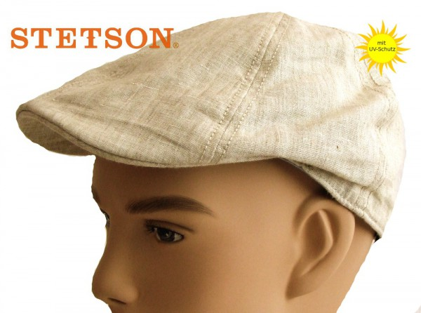 Putnam Leinenmütze beige Stetson mit UV-Schutz