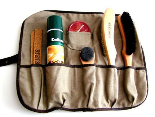 Hutpflege Set Hutbürste Korkstreifen Imprägnierspray von Stetson Care Kit