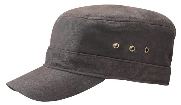 Alpha Leder Armycap braun von Stetson