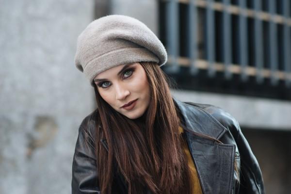 Damen Baskenmütze Kaschmir