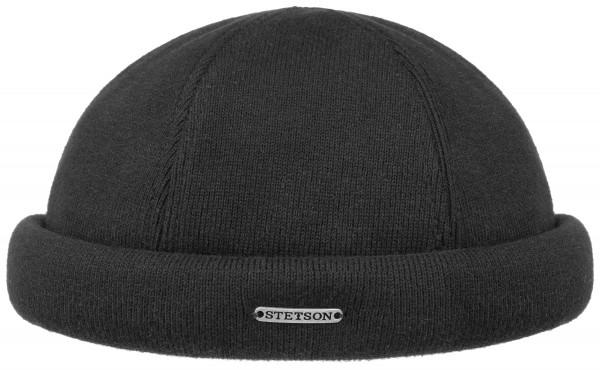 Stetson Docker Mütze Cap schwarz Strick
