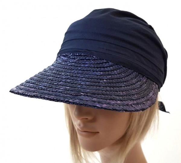 Faustmann Tuch Cap Stroh blau