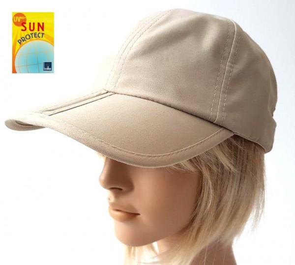 knickbare Basecap mit UV Schutz in beige