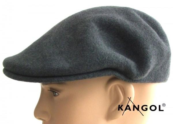Kangol 504 grau Mütze Schiebemütze Flatcap