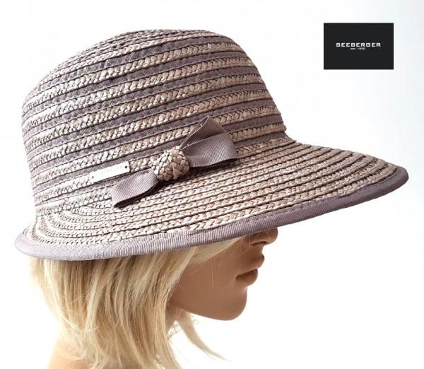 Seeberger Strohhut taupe UV-Schutz 80