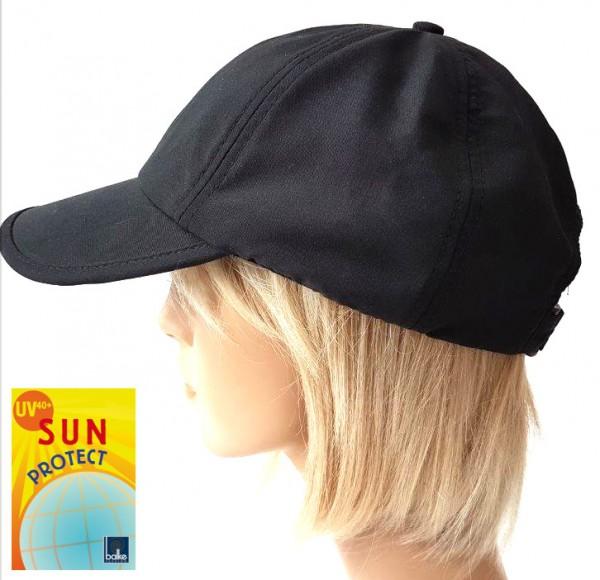 schwarzes Basecap mit UV Schutz 40