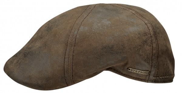 Stetson Pig Skin Texas Duck Cap Flatcap Ledermütze Leder Schiebermütze