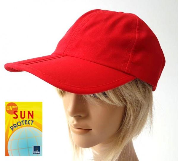 Cap rot Basecap mit UV Schutz Klettverschluss faltbar