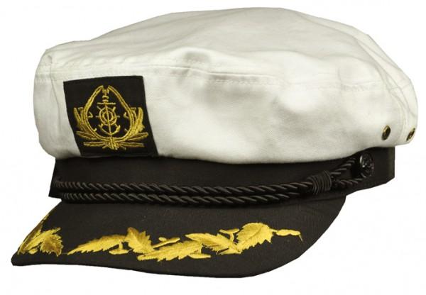 weiße Schiffermütze Kapitänsmütze Bootsmütze von Balke Fashion
