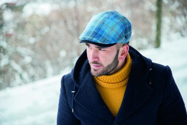 Harris Tweed Schiebermütze Balke Fashion