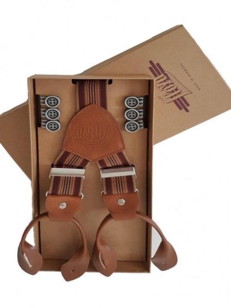 Lloyd belts Knopf Hosenträger cognac Leder
