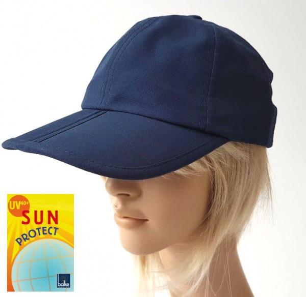 Damen Cap blau Schirm faltbar UV Schutz