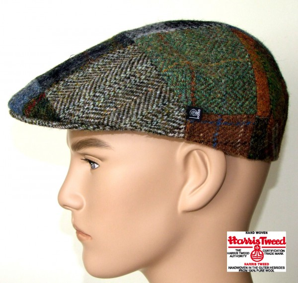 Harris Tweed Mütze Patchwork Schurwolle Balke Fashion